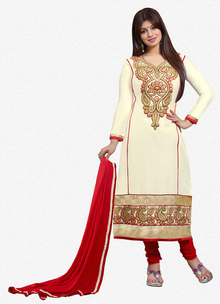 The Aayesha Takia Collection:atisundar magnificent Cream Designer Straight Cut  - 7403 - atisundar - 1 - click to zoom