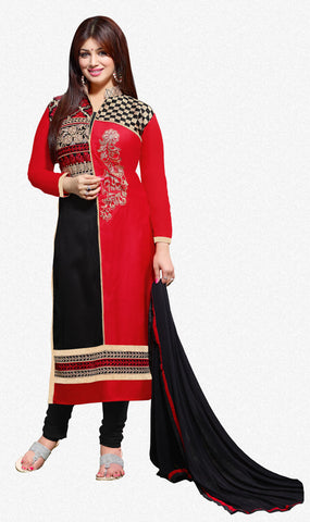 The Aayesha Takia Collection:atisundar beauteous Red And Black Designer Straight Cut  - 7391 - atisundar - 1 - click to zoom