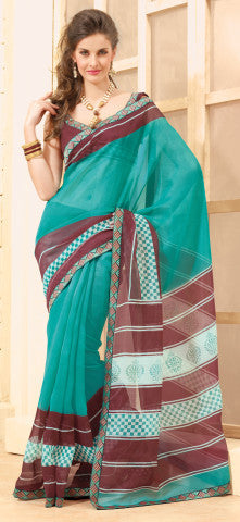 Divine Super Net Saree In Multi - 3901 - atisundar - 1 - click to zoom
