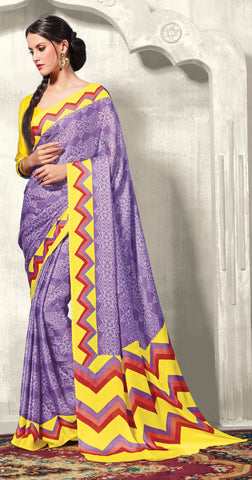 atisundar Pretty Purple Colored Saree - 3469 - atisundar - 4