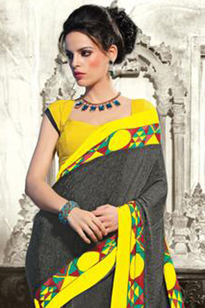 atisundar Superb Black Colored Saree - 3494 - click to zoom