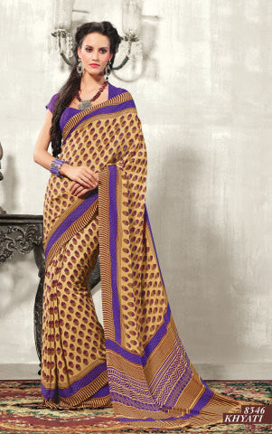 atisundar Chayana: Comely Brown Colored Saree In Crepe - 3495 - atisundar - 1 - click to zoom