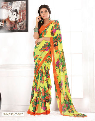 atisundar Beauteous Yellow Colored Saree - 3283 - click to zoom
