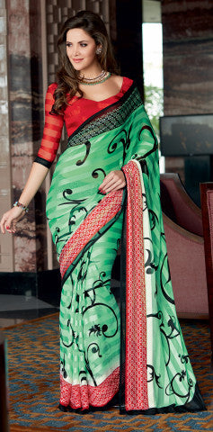 atisundar Ravishing Green Colored Saree - 4028 - atisundar - 2 - click to zoom
