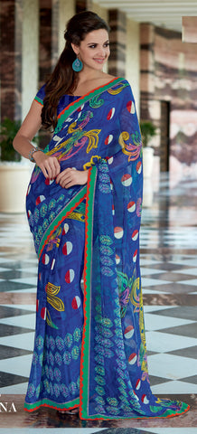 Beauteous Georgette Saree In Blue - 4035 - atisundar - 3