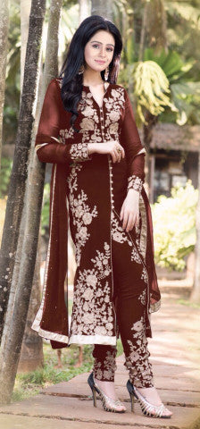 Designer Straight Cut!:atisundar refined Brown Designer Straight Cut  - 7623 - atisundar - 1 - click to zoom