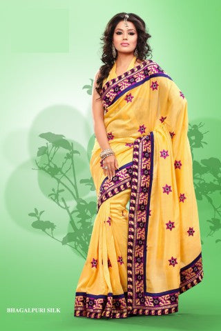 atisundar Superb Yellow Colored Saree - atisundar - 1 - click to zoom