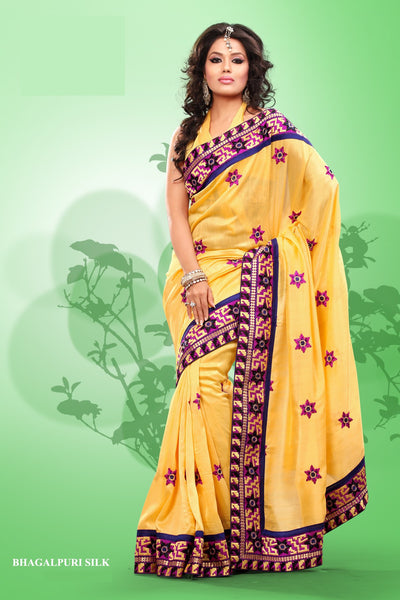 atisundar Superb Yellow Colored Saree - atisundar - 3 - click to zoom