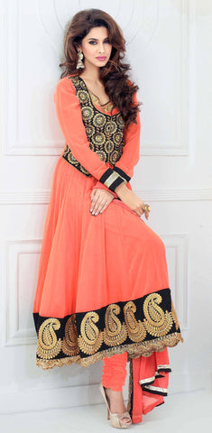 Designer Embroidered Suits:atisundar delightful Peach Anarkali - 7835 - atisundar - 2 - click to zoom