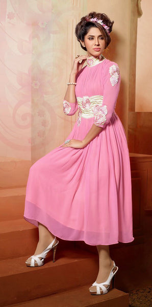 Designer Tops:atisundar wonderful Faux Georgette Designer Tops in Pink - 9351 - atisundar - 2 - click to zoom