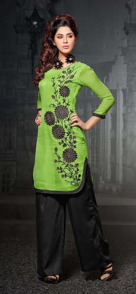 Designer Tops:atisundar splendid Faux Georgette Designer Tops in Green - 9353 - atisundar - 2 - click to zoom