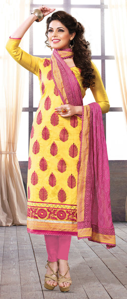 Designer Straight Cut:atisundar dazzling Yellow Straight Cut Designer Wear - 6027 - atisundar - 3 - click to zoom