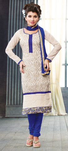 Designer Straight Cut:atisundar superb Off White Straight Cut Designer Wear - 6036 - atisundar - 1 - click to zoom