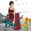 Great Print Red Unstitched Salwar Kameez By atisundar - 3176 - atisundar - 3 - click to zoom