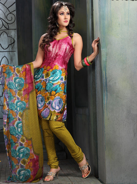atisundar Sudeshna: Fascinating Unstitched Salwar Kameez In Pink - 3155 - atisundar - 3 - click to zoom