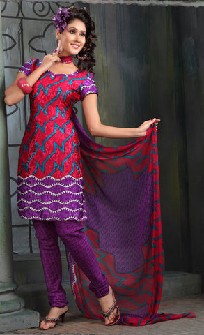 Lovely Print Purple Unstitched Salwar Kameez By atisundar - 3140 - atisundar - 3 - click to zoom