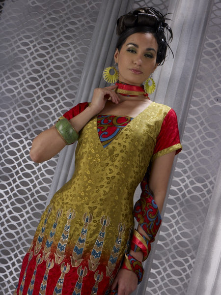 Refined Embroidery Mehndi Unstitched Salwar Kameez By atisundar - 3168 - atisundar - 2 - click to zoom