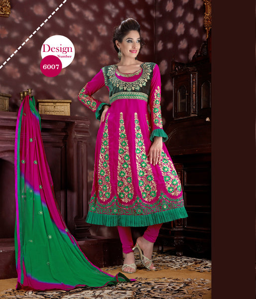 Radiant Embroidery Pink Unstitched Salwar Kameez By atisundar - 2761 - click to zoom