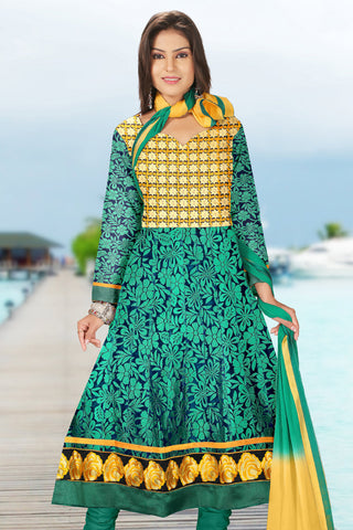 Designer Anarkali:atisundar radiant Green Designer Embroidered Anarkali - 10692 - atisundar - 1 - click to zoom