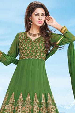 atisundar Resham: Lovely Unstitched Embroidery Salwar Kameez - 3030