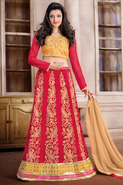 Designer Anarkali:atisundar Beautiful Red Designer Embroidered Anarkali - 10676 - atisundar - 1 - click to zoom