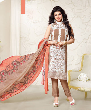 Designer Embroidered Straight Cut Suit:atisundar cute Brown Designer Straight Cut Embroidered Suits - 8957 - atisundar - 1 - click to zoom