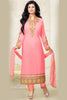 Designer Straight Cut:atisundar divine Baby Pink Designer Embroidered Straight Cut - 10602 - atisundar - 1 - click to zoom