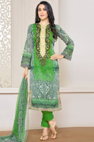 Designer Straight Cut:atisundar Superb Green Designer Embroidered Straight Cut - 10622 - atisundar - 1 - click to zoom