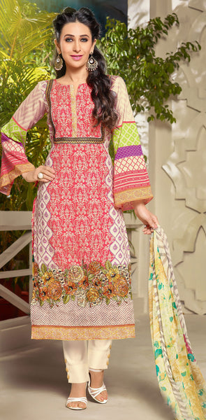 The Karishma Kapoor Collection:atisundar Beautiful Red Designer Straight Cut Embroidered Suits - 9718 - atisundar - 3 - click to zoom