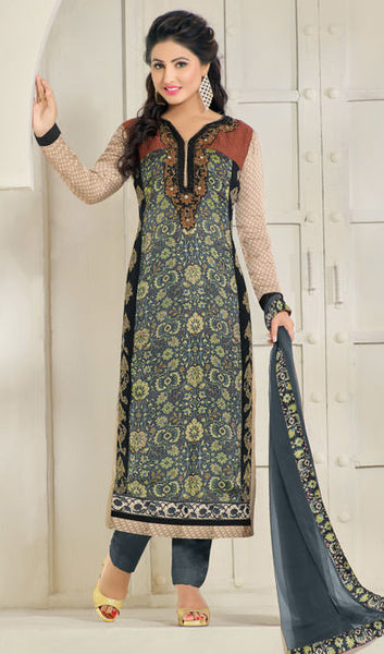 The Heena Khan Collection:atisundar angelic Grey Designer Prints  with Embroidery  - 9774 - atisundar - 1 - click to zoom