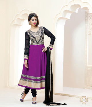 atisundar Rajeshwari: Lovely Semi stitched Embroidered Anarkali  - 4160 - atisundar - 2 - click to zoom