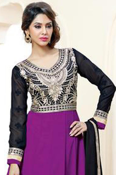 atisundar Rajeshwari: Lovely Semi stitched Embroidered Anarkali  - 4160 - click to zoom