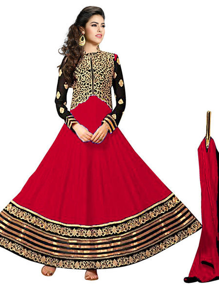 Designer Embroidered Anarkali!:atisundar fascinating Red Anarkali - 7773 - atisundar - 2 - click to zoom