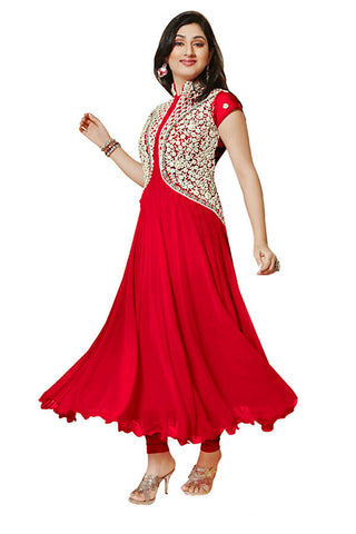 Designer Anarkali:atisundar fascinating Red Anarkali - 7729 - atisundar - 2