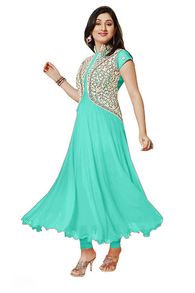 Designer Anarkali:atisundar lovely Sea Green Anarkali - 7730 - atisundar - 2 - click to zoom