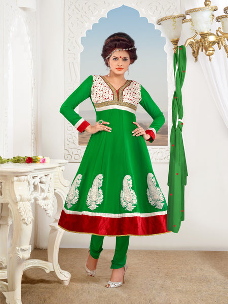 atisundar Kranti: Fascinating Unstitched Embroidery Salwar Kameez - 3319 - atisundar - 3 - click to zoom