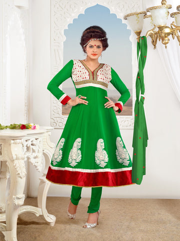 atisundar Kranti: Fascinating Unstitched Embroidery Salwar Kameez - 3319 - atisundar - 3