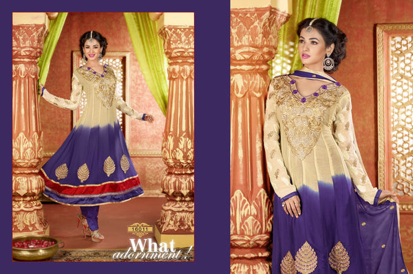 atisundar Archana: Semi stitched Anarkali In Beige - 3734 - atisundar - 3 - click to zoom