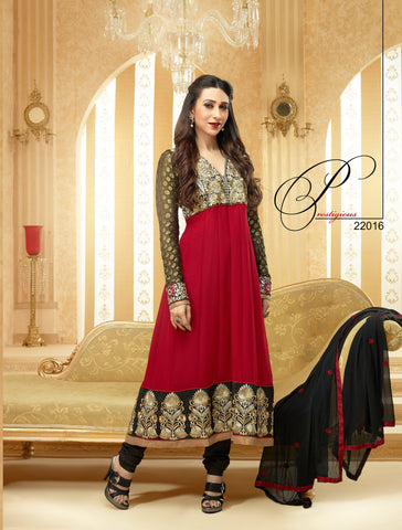 The Karishma Kapoor Collection: Stunning Semi-stitched Designer Bollywood Anarkali - 4176 - atisundar - 3 - click to zoom