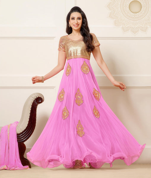 The Karishma Kapoor Collection:atisundar enticing Pink embroidered Party Wear Anarkali - 6784 - atisundar - 2 - click to zoom