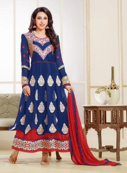 The Karishma Kapoor Collection:atisundar excellent Blue embroidered Party Wear Anarkali - 6789 - atisundar - 2 - click to zoom