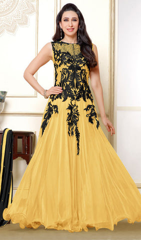 The Karishma Kapoor Collection:atisundar Lovely Light Yellow Anarkali - 9881 - atisundar - 1 - click to zoom