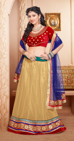 Disha Parmar Lehenga Collection:atisundar magnificent Velvet  Lehenga in Red - 6836 - atisundar - 3 - click to zoom