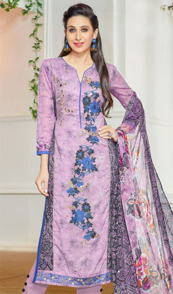 The Karishma Kapoor Collection:atisundar fair Purple Designer Straight Cut  - 9972 - atisundar - 1 - click to zoom