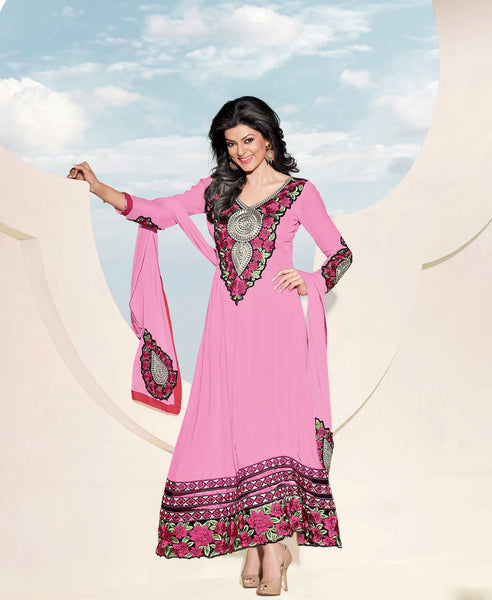 The Sushmita Sen Collection: atisundar Sona: Designer Embroidered Semi stitched Anarkali - 4419 - atisundar - 2 - click to zoom