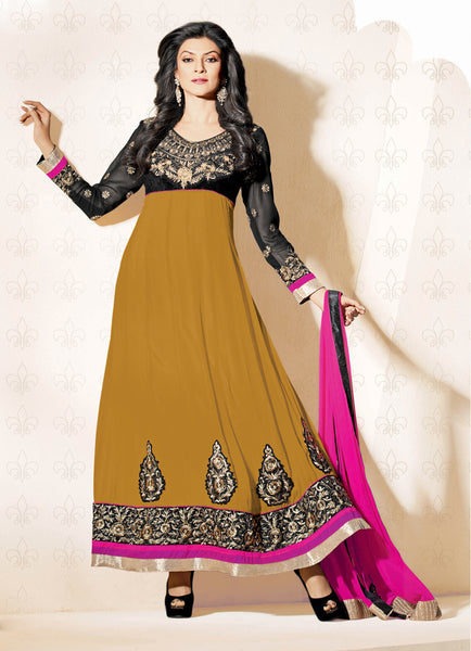 The Sushmita Sen Collection: atisundar Neha: Beautiful Embroidered Semi stitched Anarkali - 4425 - atisundar - 3 - click to zoom