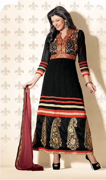 The Sushmita Sen Collection: atisundar Mehak: Designer Embroidered Anarkali - 4427 - atisundar - 3 - click to zoom