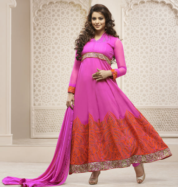 Heeba Party Wear Anarkali Featuring Aamna Sharif:atisundar ravishing   in Pink - 5109 - atisundar - 4 - click to zoom