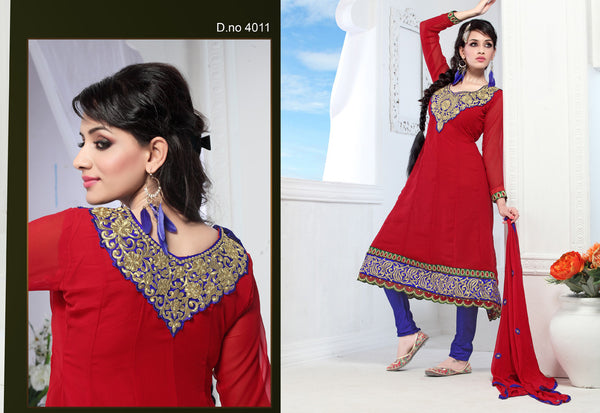 atisundar Chanda: Refined Unstitched Embroidery Salwar Kameez - 3441 - atisundar - 3 - click to zoom