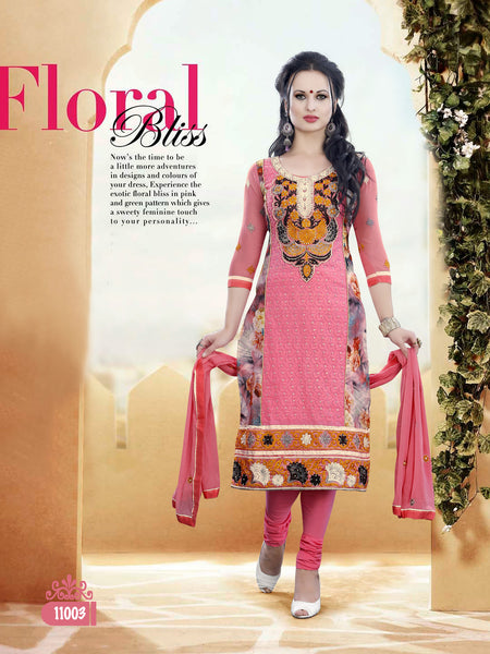 Pure Cotton Delite:atisundar Beautiful   in Peach - 5631 - click to zoom